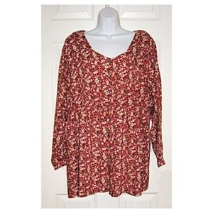New Additions Maternity Ditsy Floral Rayon Blouse